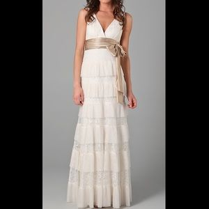 BCBG Max Azria Tiered Lace Carly Gown / Long Dress